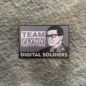 Team Flynn B&W with Color Flag Vinyl Decal