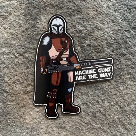 Mando Machine Guns are the Way Vinyl Decal