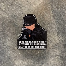Dead Pirate Roberts Good Night Vinyl Decal