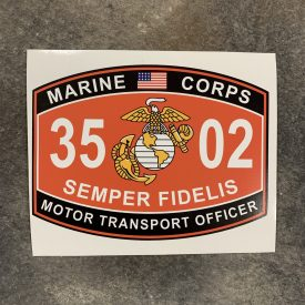 3502 Motor Transport Officer  Vinyl decal