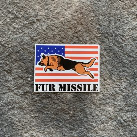 Fur Missile Vinyl Decal
