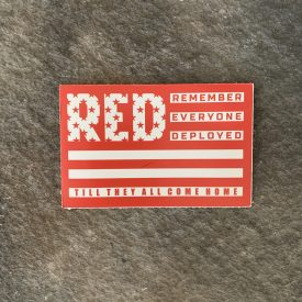 Ryan Weaver Heroes Collection- R.E.D. Vinyl Decal-  Red/White Flag