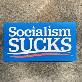 Socialism Sucks Vinyl Decal