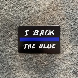 I back the blue Vinyl Decal