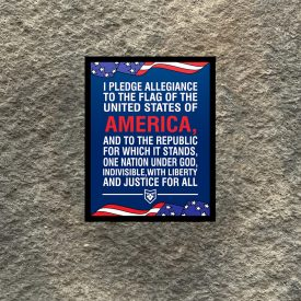 The Pledge of Allegiance Vinyl Decal