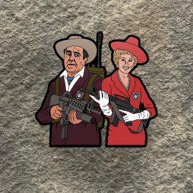 Gilligans Island 2A Castaways:  The Millionaire and His Wife Vinyl Decal