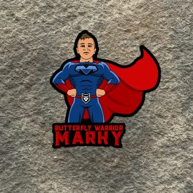 FUNDRAISER:    Butterfly Warrior Marky Jaquez Vinyl Decals