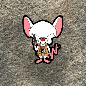 2A Pinky and the Brain:  Tactical Brain Vinyl Decal